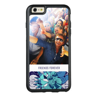 Funky Seashell Pattern   Your Photo & Text OtterBox iPhone 6/6s Plus Case