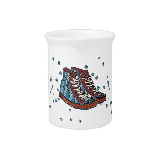 Funky Shoes Pitcher