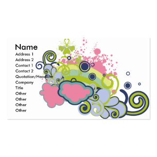 funky skies vector design pack of standard business cards