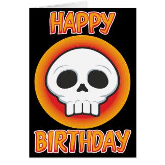 Funky Skull Birthday Card