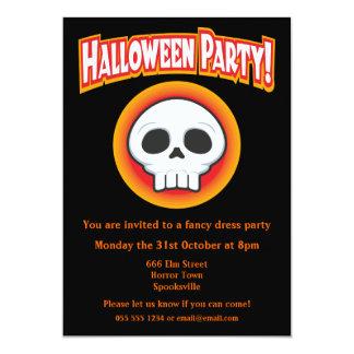 Funky Skull Halloween Invitation 13 Cm X 18 Cm Invitation Card