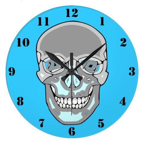 Funky Skull Wall Clock Zazzle