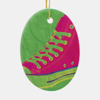 Funky Sneaker 2 Christmas Ornament