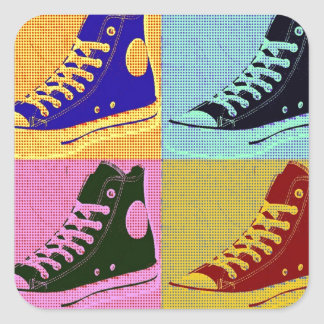 Funky Sneaker Square Sticker