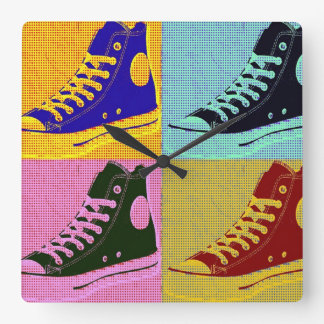 Funky Sneaker Square Wall Clock