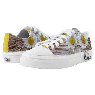 funky sneakers summer flowers
