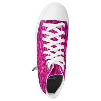 Funky Sneakters with Hot Pink Flowers High Tops