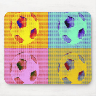 funky soccer ball mouse pad