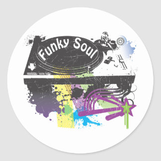 Funky Soul Classic Round Sticker