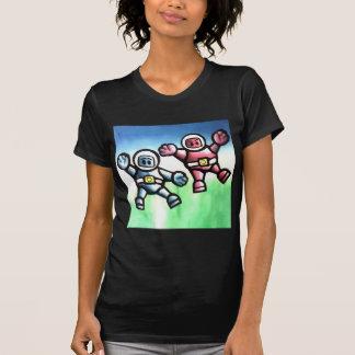 Funky Spacemen ladies petite t-shirt