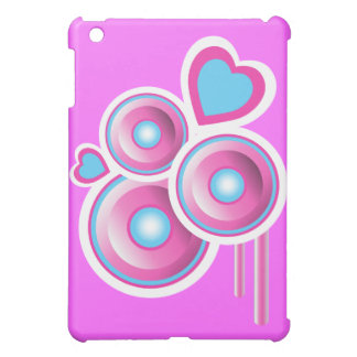 Funky Speakers & Hearts Abstract Case For The iPad Mini