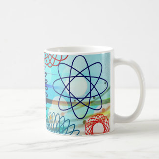 Funky Spirograph Geometric Pattern Blue Design Coffee Mug