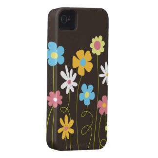 Funky Spring Flowers iPhone 4 Case
