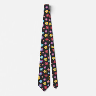 Funky Spring Flowers Pattern Novelty Tie