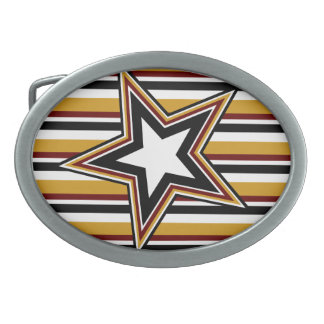 Funky Star and Stripes Belt Buckle