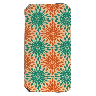 Funky Starburt Teal & Orange Design Incipio Watson™ iPhone 6 Wallet Case
