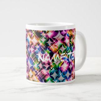 Funky Stars, colorful 20 Oz Large Ceramic Coffee Mug