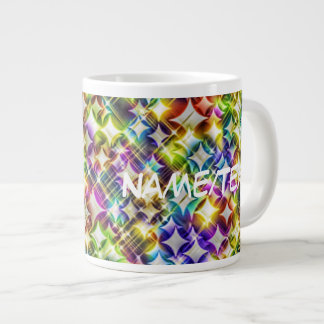 funky stars green extra large mugs