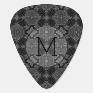 Funky Steampunk Metal Abstract Geometric Pattern Guitar Pick