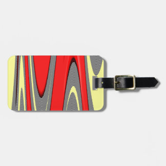 Funky Strawberries and Cream Swirl Abstract Luggage Tag