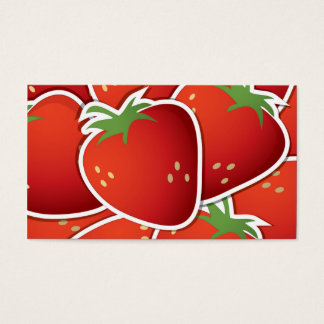 Funky strawberries business card