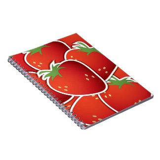 Funky strawberries notebook