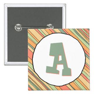 Funky Stripes Monogram Button
