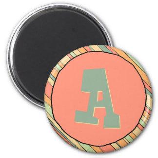 Funky Stripes Monogram Magnet