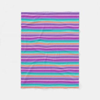 Funky Stripes Purple Mod Blankets