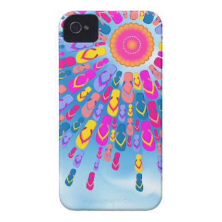 Funky Summer Sun Flip-Flops Rays iPhone 4 Cases