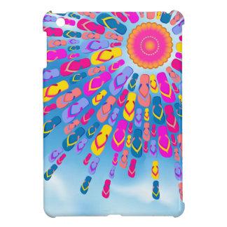 Funky Summer Sun Flip-Flops Rays iPad Case