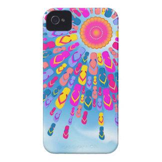 Funky Summer Sun Flip-Flops Rays iPhone 4 Case-Mate Case