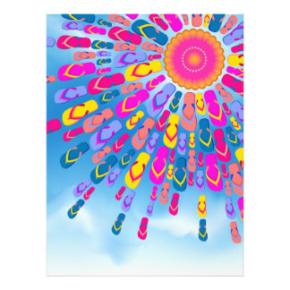 Funky Summer Sun Flip-Flops Rays Photo Print
