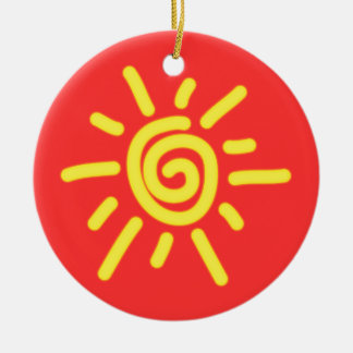 Funky Sun Christmas Ornament