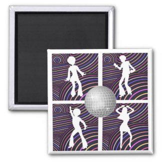 Funky Swirls Disco Theme 70's Magnet