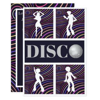 Funky Swirls Disco Theme 70's Party Card