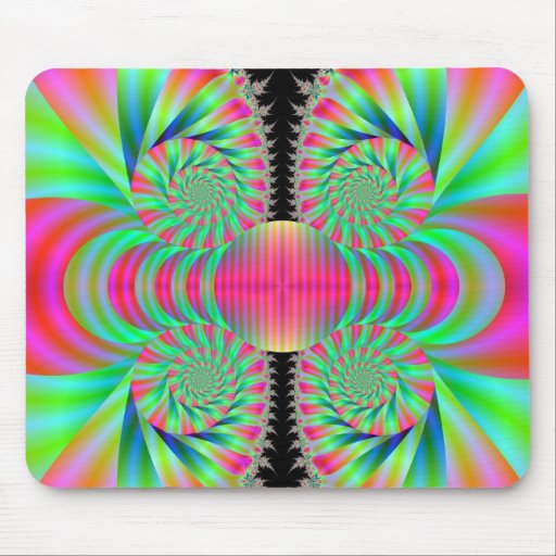 Funky Swirls Mouse Pads