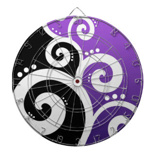 Funky Swirls Purple Dartboard