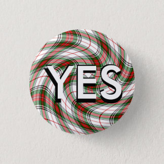 Funky Tartan Scottish Independence Pinback 3 Cm Round Badge