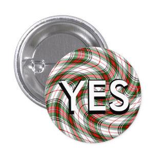 Funky Tartan Scottish Independence Pinback 3 Cm Round Badge