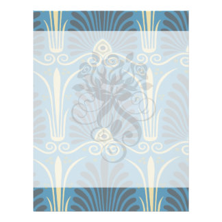 funky taupe and blue ancient damask custom flyer