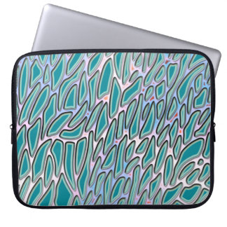 Funky Teal Pattern Laptop Sleeve
