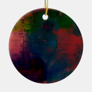 funky tie-dye  pillow christmas ornament