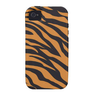 Funky Tiger Stripes Wild Animal Patterns Gifts iPhone 4/4S Cover