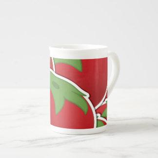 Funky tomato tea cup