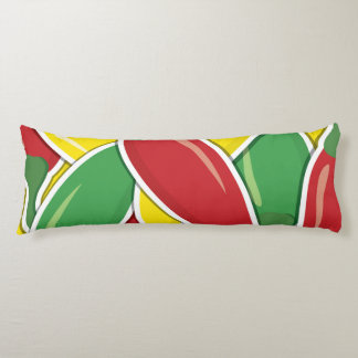 Funky traffic light chilli peppers body cushion