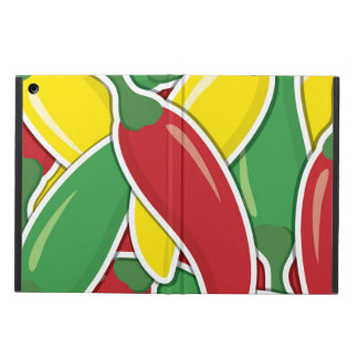 Funky traffic light chilli peppers iPad air case