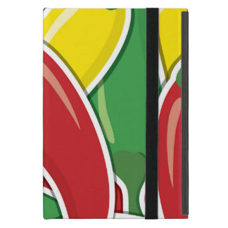 Funky traffic light chilli peppers iPad mini cover