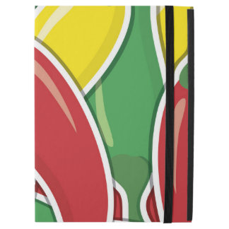 "Funky traffic light chilli peppers iPad pro 12.9"" case"