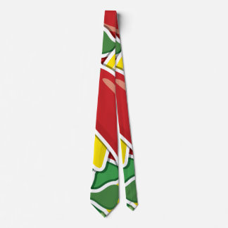 Funky traffic light chilli peppers tie